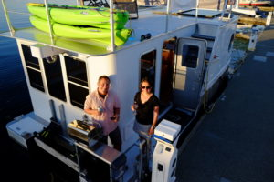 Cooking in the Gulf Islands aboard the SeaSuite